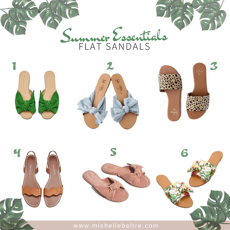 summer-flat-sandals-essentials-2018